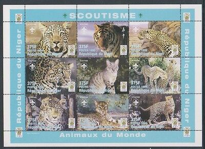 Niger - 1998, Animals of the World - Leopards (Scout Jamboree) sheet - MNH