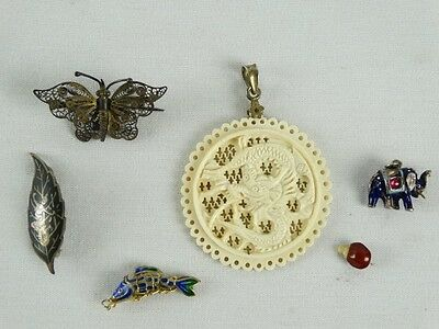 Antique & Vintage Chinese & Oriental Jewellery Inc Sterling Silver Cloisonne etc