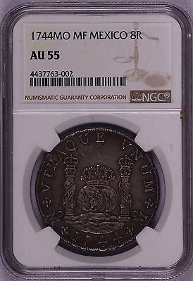 Ngc-Au55 1744Mo Mf Mexico 8R Well Struck Toned