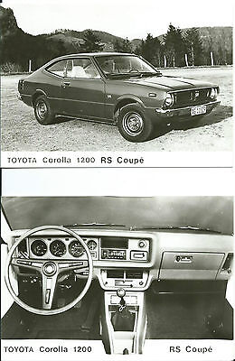 Toyota Corolla 1200 RS Coupe Original Press Photograph 15 cm x 10 cm SET OF 2