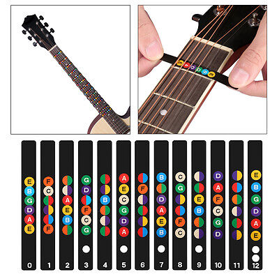 Logical Guitar Musical Scale Sticker Guitar Neck Fretboard Note Map Fret Sticker Lables Decals Learn Fingerboard Stringed Instruments Musical Instruments