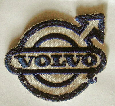 """Vint VOLVO Sew-On Patch: Embroidered Automobile Mechanics Uniform 2-1/4"""" by 2"""""""