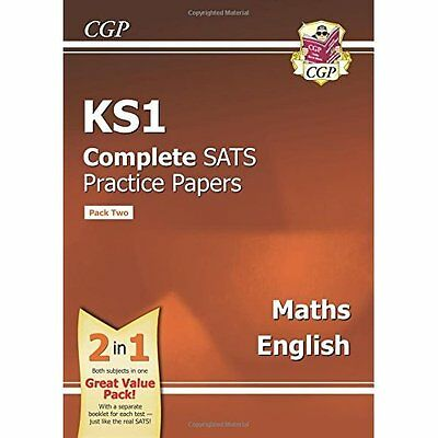 KS1 Maths and English SATS Practice Papers (updated for - Paperback NEW CGP Book