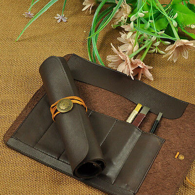 Stone Carving Tool Knife Bag Scabbard Artificial Leather Can Roll Up Bags 5 Bag