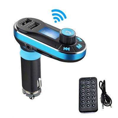 Dual USB Car Charger Wireless Bluetooth FM Transmitter AUX Stereo LCD MP3 Player