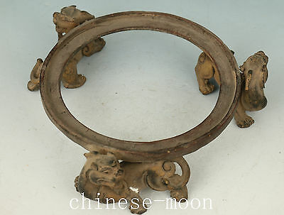 Good Chinese Bronze Handmade Carved Dragon Statue Stand