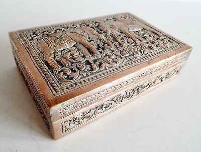 Wonderful Old Silver Plated Box - Possibly Indian - Markings On Base - Superb
