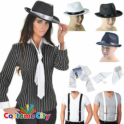 Womens Ladies 1930s Mafia Gangster Moll Fancy Dress Costume Accessory 5PC Set