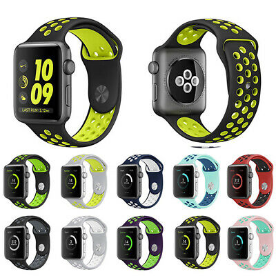 Sport Silicone Strap Band for Apple Watch Series 5 4 3 2 1 iWatch 38mm 40 42 44
