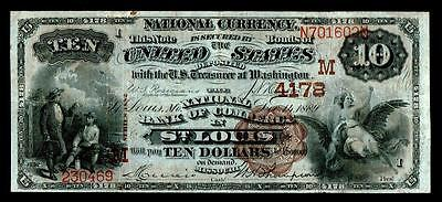 Saint Louis, MO - $10 1882 Brown Back Fr. 485 The NB of Commerce Ch. # (M)4178
