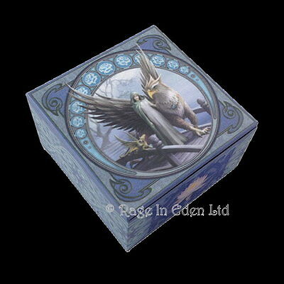 REALM OF TRANQUILITY Fantasy Griffin Art Trinket Box With Mirror By Anne Stokes