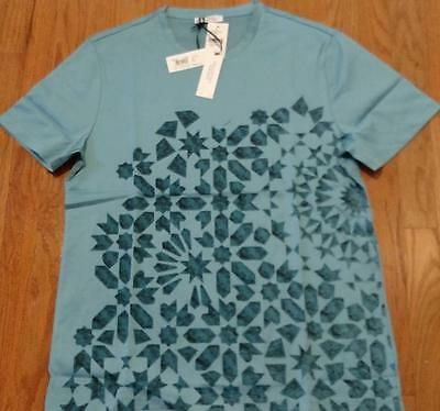 d7ee44e84 Mens Authentic Versace Collection Printed Graphic T-Shirt Azzure Blue XL  $295