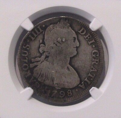 1798 PTS PP Bolivia 4 Reales *NGC VG Details*  Plugged