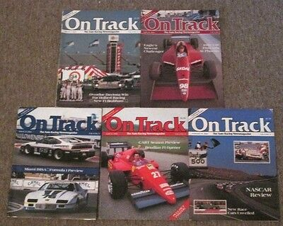 5 Issues of On Track Auto Racing Magazine Feb 17 March 3 & 31 April 14 & 28 1986
