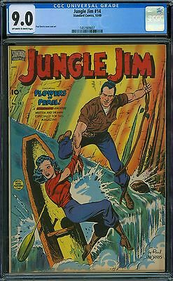 Jungle Jim 14 CGC 9.0 - OW/W Pages
