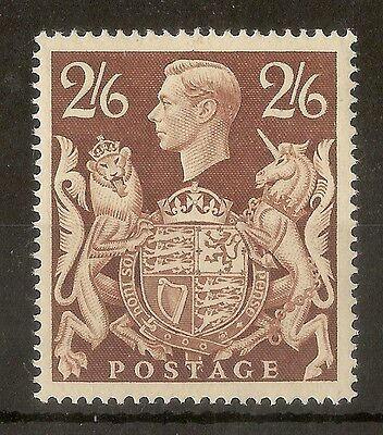 GB 1939 2/6d Brown SG476 MNH Cat£95