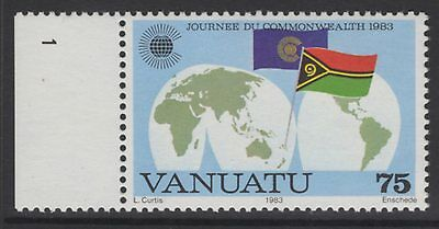 VANUATU SG364w 1983 75v COMMONWEALTH DAY WMK CROWN TO RIGHT OF CA MNH