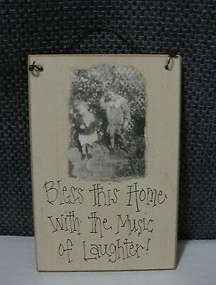 TEN TALENTS made in USA Wheatons Vintage small Wood Plaque Bless this HOME