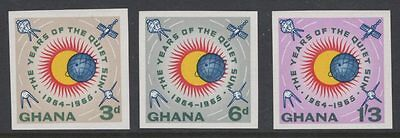 Ghana Sg332/4 1964 Int. Quiet Sun Years Imperf Mnh