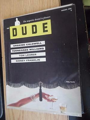 Vintage Pinup Adult Magazine The Dude August 1956