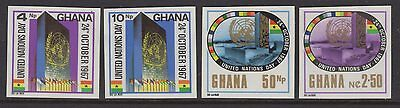 Ghana Sg487/90 1967 United Nations Day Imperf Mnh