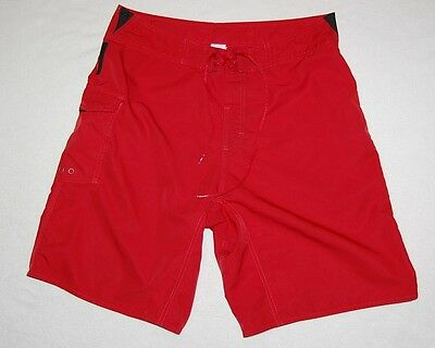 REEF*Mens red swim suit trunks bathing suit board shorts*size 32??