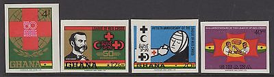 Ghana Sg564/7 1970 League Of Red Cross Societies Imperf Mnh
