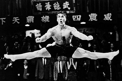 Jean-Claude Van Damme Bare Chested Jumps In Air 11X17 Poster