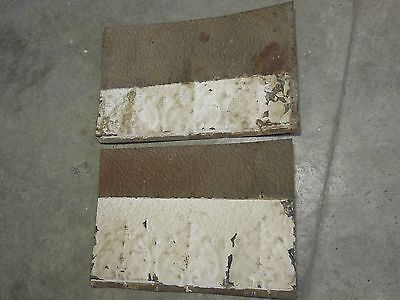 "Old Antique ( Metal )  tin ceiling tile / tiles (2) 18"" x 12""  fillers"