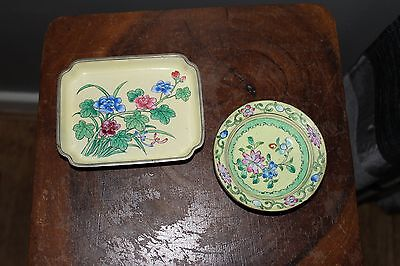 ANTIQUE CHINESE  ENAMELED DISHES 19th c.