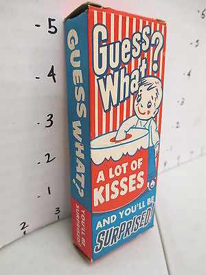 Williamson Candy bar company 1950s BOX store display GUESS WHAT premium kid