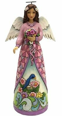 Jim Shore Heartwood Creek Bloom From Within Angel with Flowers Figurine 4056954