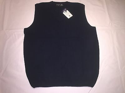 Clearance New Mens Henbury Lambswool Sleeveless V Sweater. Navy S x 15. N9.