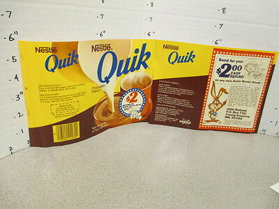 Williamson Candy bar company 1977 Nestle's QUIK WRAPPER Buster Brown shoes