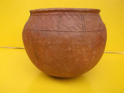 968 / Early 20Th Century Ethnic / Tribal Hand Made Terracotta Storage Pot