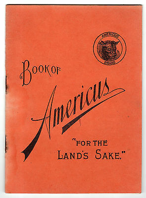 1895 Farming Booklet With Calendar, Americus Brand Fertilizer From New York