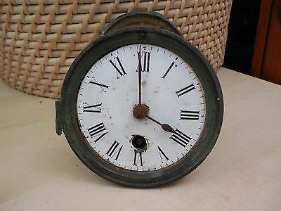 Antique French Clock Striking Movement & Open Faced Dial