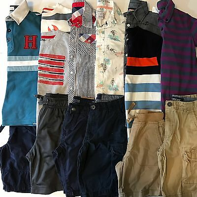 LOT Boys Size 6 7 7/8 Spring Summer Clothes Shorts Shirts Outfits