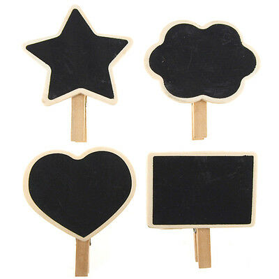 Chalkboard Wooden Clothespins Tags