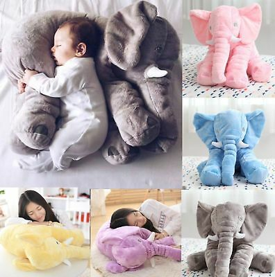 Baby Children Gift Long Nose Elephant Doll Soft Plush Stuff Toys Lumbar Pillow H