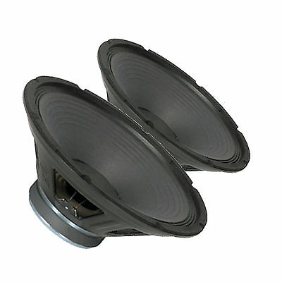 """Pair Peavey Sheffield Pro 1500+ 15"""" Woofer Replacement Speaker Driver"""