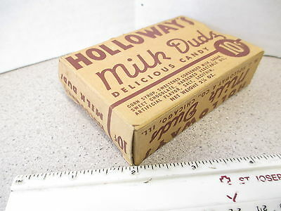 candy box 1940s Holloway's MILK DUDS early chocolate caramel movie theater size