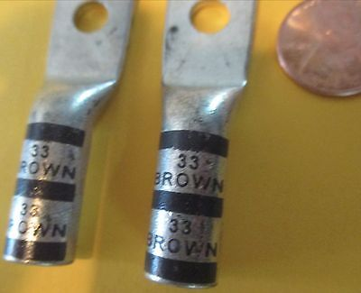 4 Pcs. NEW 256-30295-1016 Thomas & Betts T&B 33 Brown Lug Long Barrel 2-3 STR 2H