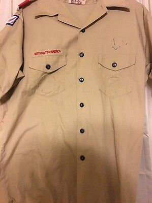 Adult Large Boy Scout Shirt BSA Boy Scouts Of America