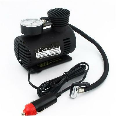 12V Portable Mini Air Compressor 300 PSI Bike Car Tyre Inflator Pump Cigarette H
