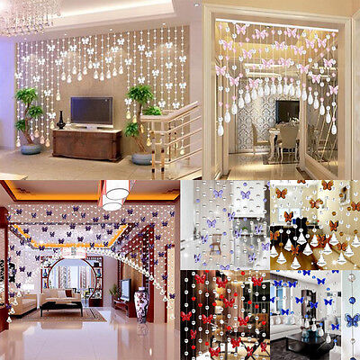 Luxury Crystal Glass Beads Curtain Living Room Bedroom Window Door Wedding Decor