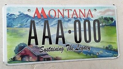 "Montana Mint Graphic Sample License Plate "" Aaa 000 "" Mt Sustaining The Legacy"