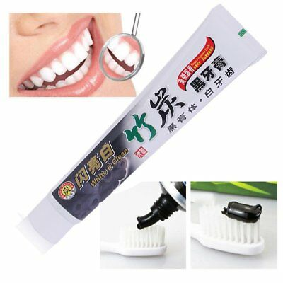 New 100g Bamboo Charcoal Teeth Whitening Black Toothpaste Oral Hygiene Care HT