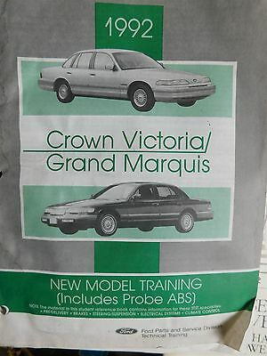 1992 ford crown victoria mercury grand marquis new model training shop  manual