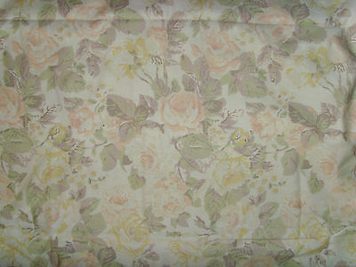 """Beautiful pastel muted flowers roses fabric material sewing chic 45x180"""" Spring"""